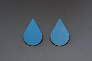 Anodized titanium earrings from the series Drop