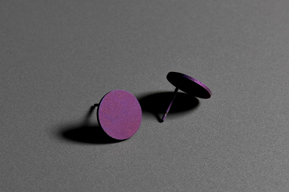 TO. Anodized titanium earrings