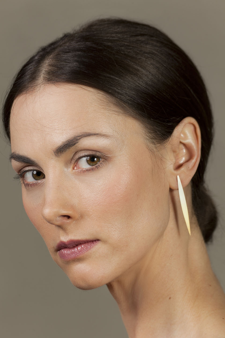 Lible. Gold-plated silver earrings