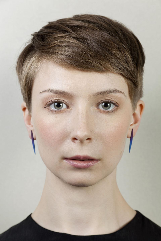 Lible. Anodized titanium earrings