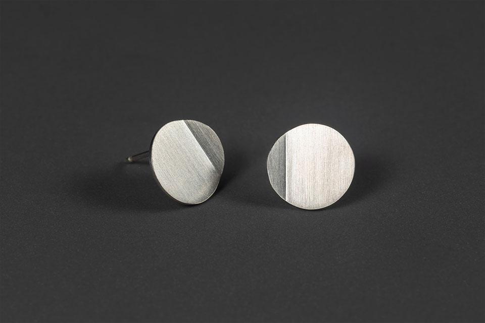 Luna. Silver earrings